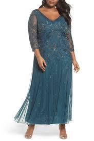 Details About Pisarro Nights Embellished Double V Neck Long Dress Plus Sz 12 Teal