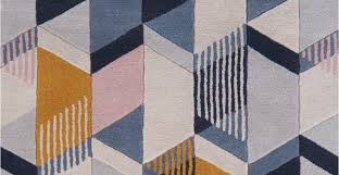 ava a large rug in tonal blue