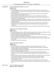 Space Systems Engineer Resume Samples Velvet Jobs