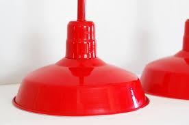 red pendant lights reserved sale vintage industrial warehouse by songbyrdvintage