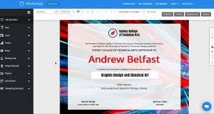 Making Certificates Online Free Venngage The Online Certificate Maker
