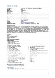 Cable Technician Resume From Ockie Du Toit Cv Free Resume