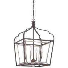 astrapia 4 light dark rubbed sienna with aged silver pendant
