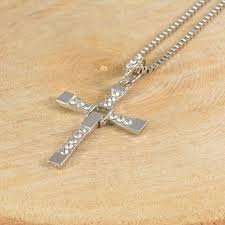 details about mens silver cross necklace pendant fast and furious dominic toretto s uk