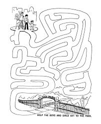 kids activity printables.  Printables Maze Activity Sheet  Channel  Kids Go To The Park Intended Printables S