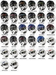 Bauer Re Akt 75 Size Chart Bauer Re Akt 75 Hockey Helmet Combo