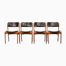 model 49 teak dining chairs by erik buch for odense mobelfabrik 1960s set of