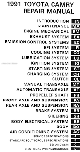toyota camry wiring diagram image wiring 1991 toyota camry repair shop manual original on 1991 toyota camry wiring diagram