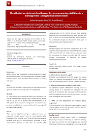 Pdf Does The Introduction Of An Electronic Nursing