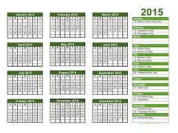 Printable 2015 Calendar With Holidays Aaron The Artist