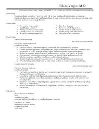 Physician Curriculum Vitae Template Impressive Easy Medical Doctor Resume Template For Your Example Healthcare