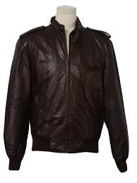 retro 80 s leather jacket 80s andhurst mens deep chocolate brown smooth leather motocross jacket with waist length styling ribbed knit waistband cuffs
