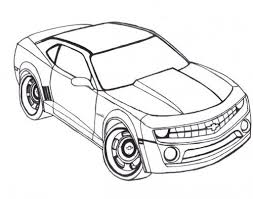 Small Picture Racing Car Chevy Camaro Coloring Page Coloring PagesLineArt