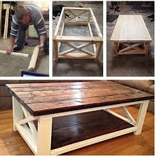 Build A Rustic X Coffee Table With Free Easy Plans