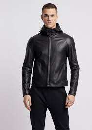 full thickness wrinkled look nappa leather jacket