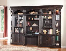 Parker House Venezia Six Piece Library Wall with Built in Desk