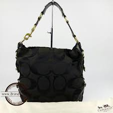 💯% Authentic Coach Signature Black Large Carly Hobo Bag 10620 ...