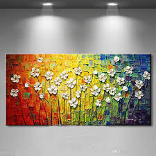 2018 colourful flowers pure handicrafts modern abstract art oil painting home wall decor on high quality canvas size can be customized from supergallery b  on modern abstract art oil painting wall decor canvas with 2018 colourful flowers pure handicrafts modern abstract art oil