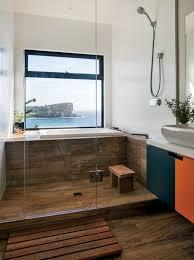 japanese style bathroom brown tiles