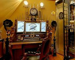 steampunk office. Steampunk Decorating Ideas - Victorian Punk Rock Style Creates The Theme Steam Industrial. Office C
