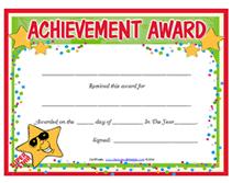 Achievement Awards Templates Editable Award Certificate Template Award Certificates