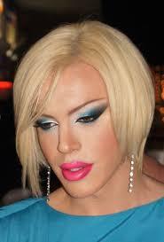 blon bond blonbond s y make up drag high dress lips hose