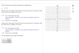 find the intercepts and graph the equation by plotting points y x 16 what