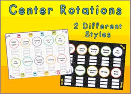 Reading Center Rotation Chart Center Station Rotation Charts For Reading Or Math Promethean Flipchart