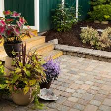patio designs with pavers. Paver Patio With Container Plants. Designs Pavers