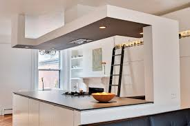 kitchen soffit lighting. inspiration for a contemporary eatin kitchen remodel in boston with flatpanel cabinets soffit lighting t