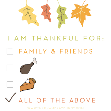 Thanksgiving Quotes For Friends Inspiration Happy Thanksgiving I'm Thankful For The Chambray Bunny