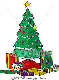 christmas tree with presents drawing. Contemporary Presents Christmas Tree With Presents To Tree With Presents Drawing A