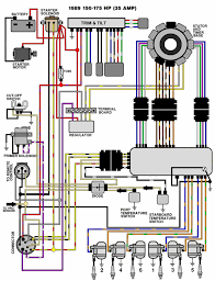 mastertech marine evinrude johnson outboard wiring diagrams v 6 motors 150 175 hp 1989 35 amp