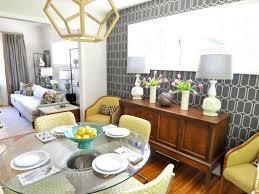 vibrant midcentury modern dining room