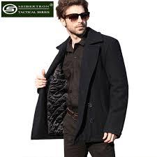 Usn Pea Coat Size Chart Us 132 05 5 Off Seibertron Brand Winter Mens Woolen Coat Us Navy Type 80 Wool Usn Pea Coat Black And Blue Color Warm Anti Sweat Coat In Hiking