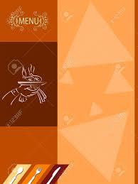 Menu Design Templates Menu Card Design Template Vector Art