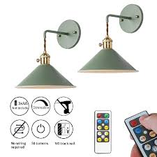 Shop hsn for a wide selection of wall sconce from top brands. Nunulamp 2 Pack Led Battery Operated Macaron Green Wall Sconces Wireless Wall Sconce Light Fixture For Rental House And Renovation Nunu Lamp Online Shopping