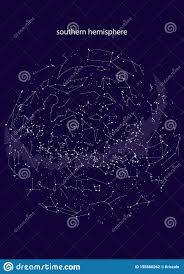 True Constellations Of The Southern Hemisphere Star Map