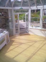 bamboo flooring in a conservatory