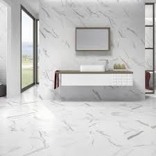 white floor tiles. Azulev Calacatta Matt White 60x60cm Floor Tile Tiles N