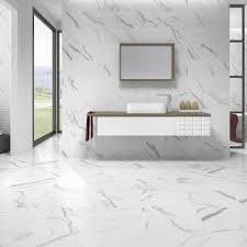 white tile bathroom floor. Azulev Calacatta Matt White 60x60cm Floor Tile Bathroom
