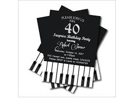 40th Birthday Invitations Us 5 39 40 Off 14 Pcs Lot Adult 40th Birthday Party Invitations Piano Party Invites Custom Any Age Adult Kids Birthday Party Decoration Suply In