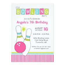 Bowling Party Invitation Bowling Alley Invitations Zazzle