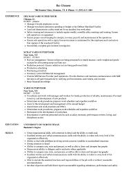 Yard Worker Sample Resume Yard Supervisor Resume Samples Velvet Jobs 16