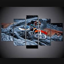 motocross supercross dirt bike spinning out multi panel canvas wall ar mighty paintings on dirt bike wall art with motocross supercross dirt bike spinning out multi panel canvas wall