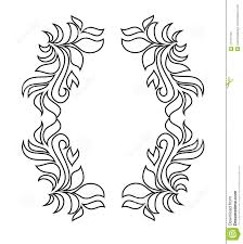 Ornamental Design Drawing Floral Vector Ornament Isolated On White Vector Black