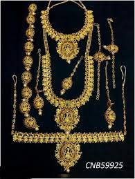 party wear and wedding wear temple traditional bridal set