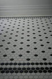 Black And White Patterned Floor Tiles Stunning White Hexagon Floor Tile Startuphoundco