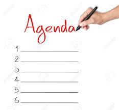 Agenda List Business Hand Writing Blank Agenda List