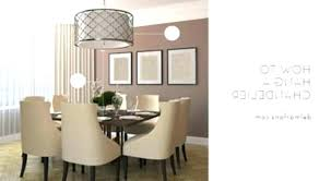 kitchen chandelier height above dining table room for co from hanging exci